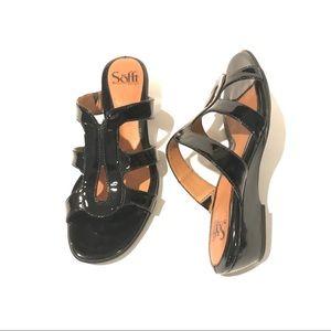 Sofft black patent sandals